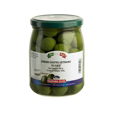 GREEN OLIVES CASTELVETRANO WHOLE - SICILIA  - 580Ml