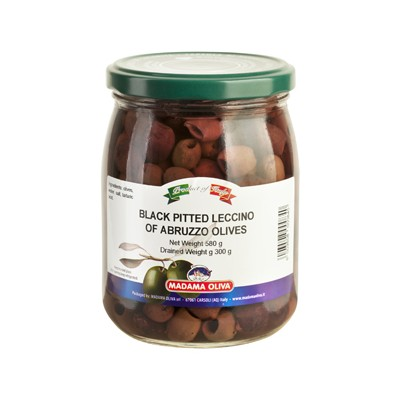 BLACK OLIVES LECCINO  PITTED - D'ABRIZZO
