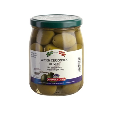 GREEN OLIVES CERIGNOLA PITTED  - PUGLIA