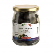 BLACK OLIVES BELLA DI CERIGNOLA WHOLE - PUGLIA  - 580 ML