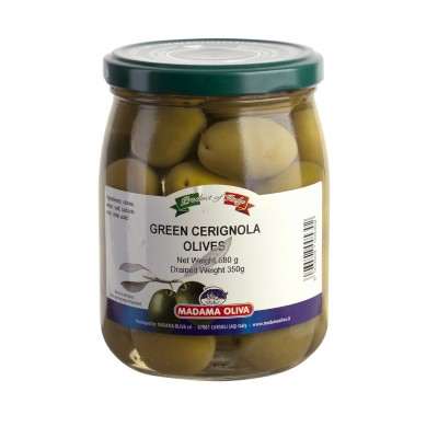 GREEN OLIVES CERIGNOLA WHOLE  - PUGLIA